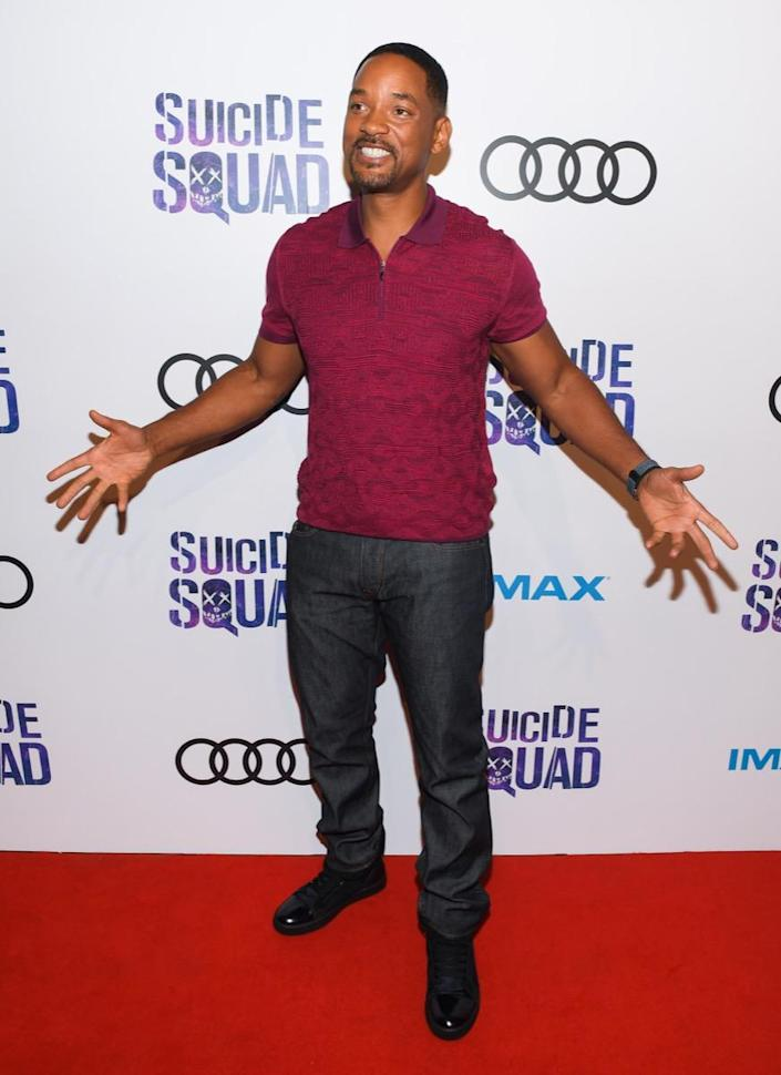 """TORONTO, ON - JULY 26: Actor Will Smith attends the grand opening of the """"Suicide Squad"""" Toronto Belle Reve Penitentiary Fan Experience co-sponsored by Audi at the Fermenting Cellar in the Distillery District on July 26, 2016 in Toronto, Canada. (Photo by George Pimentel/WireImage,)"""