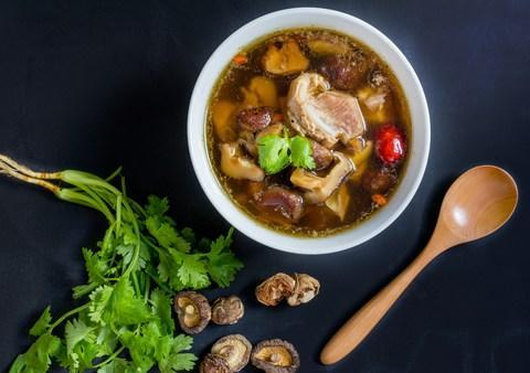 Bak kut teh, a local savoury pork soup served in Singapore - Credit: istock