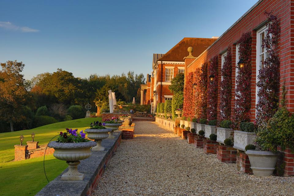Hampshire, UK - October 22, 2016: Chewton Glen is located in Hampshire and is know for its extensive, manicured grounds.