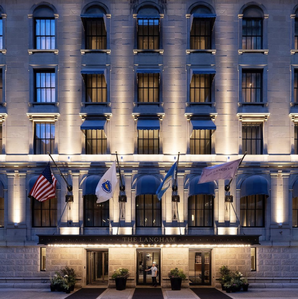 """<p>You've earned it: it's time to check into <a href=""""https://www.langhamhotels.com/en/the-langham/boston/"""" rel=""""nofollow noopener"""" target=""""_blank"""" data-ylk=""""slk:The Langham, Boston"""" class=""""link rapid-noclick-resp"""">The Langham, Boston</a> in the former Federal Reserve Bank of Boston, a downtown icon, and relax a bit. The interiors are rooted in classic American luxury and the hotel's new destination bar, <a href=""""https://www.langhamhotels.com/en/the-langham/boston/dining/the-fed/"""" rel=""""nofollow noopener"""" target=""""_blank"""" data-ylk=""""slk:The Fed"""" class=""""link rapid-noclick-resp"""">The Fed</a>, is a charming British-style pub with an elevated New England twist. Grab a cocktail made with house-made gin or single-barrel rye before hitting the town.</p><p>Even if <a href=""""https://www.yvonnesboston.com/"""" rel=""""nofollow noopener"""" target=""""_blank"""" data-ylk=""""slk:Yvonne's"""" class=""""link rapid-noclick-resp"""">Yvonne's</a> wasn't nearby, we'd still suggest you dine as this ultra-glam restaurant and supper club for your last night out. It's a speakeasy, so it's easy to miss right behind the faux hair salon facade, but once you enter, it's time unwind and indulge in the decadence. From the cocktails to the social plates to the award-winning wine menu and fabulous desserts, everything is impeccable and celebratory.</p>"""