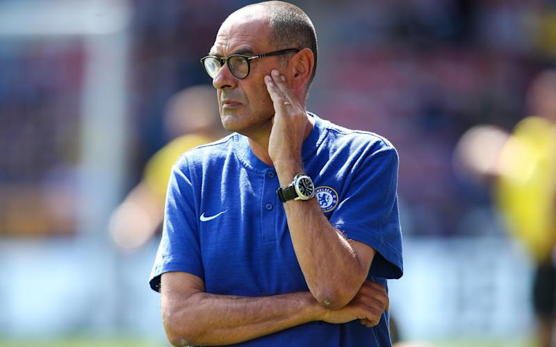 Sarri has relaxed some of his predecessor Antonio Conte's strict rules on nutrition  - Getty Images Europe