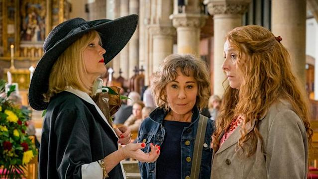 "Miranda Richardson, Zoe Wanamaker, and Phyllis Logan in ""Girlfriends."" (Photo: Acorn TV)"
