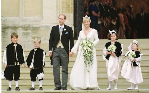 Prince Edward on his wedding day in 1999 - Credit: IAN JONES