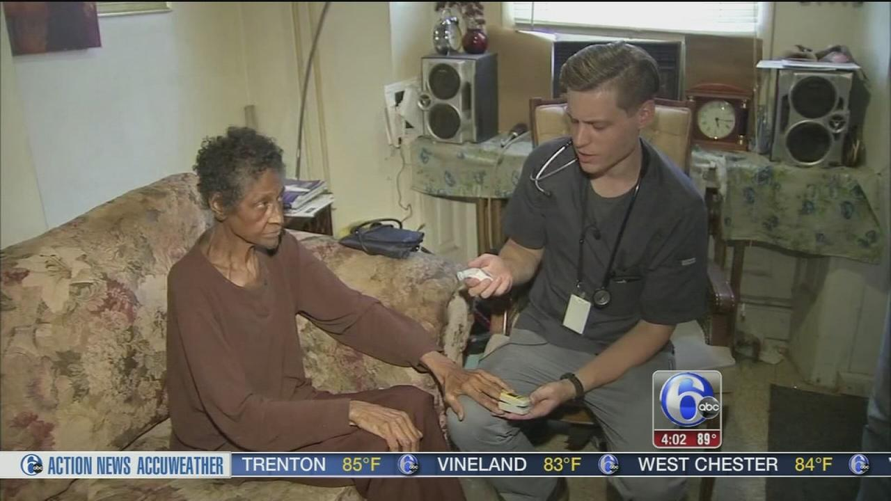 Action News briefly shadowed nurse Jonas Lapinski with the Visiting Nurse Association of greater Philadelphia on two of his stops.