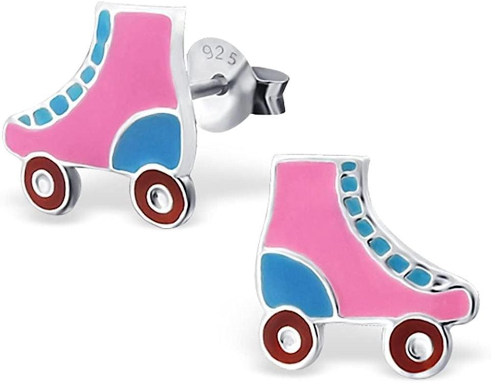 <p>These <span>Roller Skates Studs Earrings</span> ($14) will pop against a neutral look.</p>