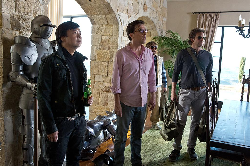 "Ken Jeong, Ed Helms, Zach Galifianakis and Bradley Cooper in Warner Bros.' ""The Hangover Part III"" - 2013"
