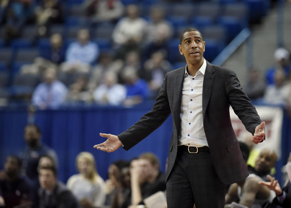Connecticut head coach Kevin Ollie is out of a job four years after winning the NCAA title. (AP Photo)