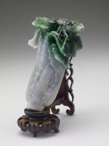 清 翠玉白菜 | Jadeite Cabbage, Qing dynasty (1644-1911). (Courtesy of NPM)