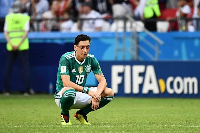 Mesut Ozil had plenty to say in his statement retiring from the German national team. (Getty Images)