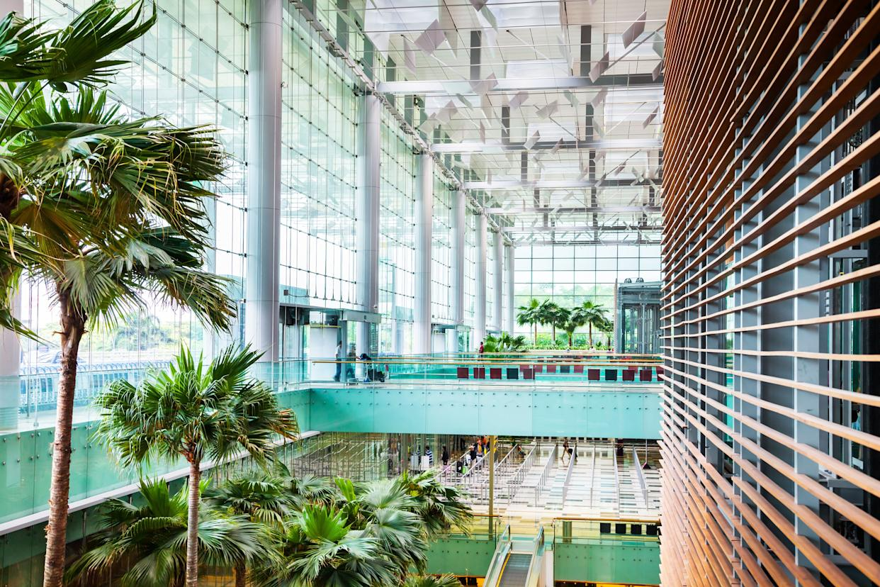 """When she arrives at <a href=""""http://www.changiairport.com/"""" rel=""""nofollow noopener"""" target=""""_blank"""" data-ylk=""""slk:Singapore's Changi Airport"""" class=""""link rapid-noclick-resp"""">Singapore's Changi Airport</a>, Rachel says she feels like she's """"at some upscale tropical resort."""""""