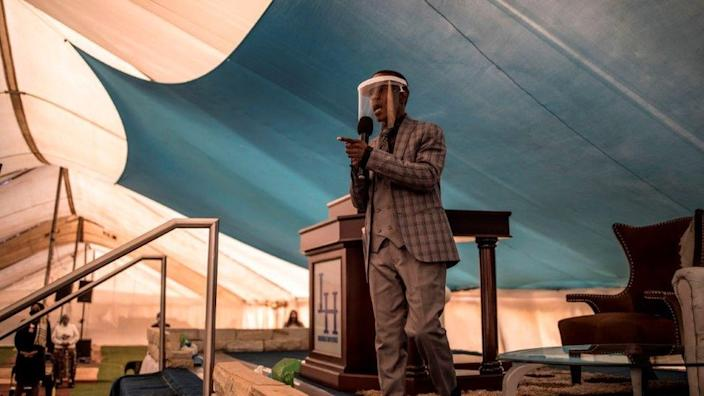 In South Africa people start returning to their places of worship after lockdown restrictions are eased, including South Africa's Prophet Paseka Motsoeneng on Sunday in Ekurhuleni...