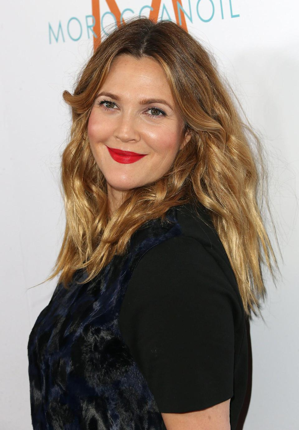 WEST HOLLYWOOD, CA - PEOPLE 22: Actress Drew Barrymore Attends Daily Last Stop