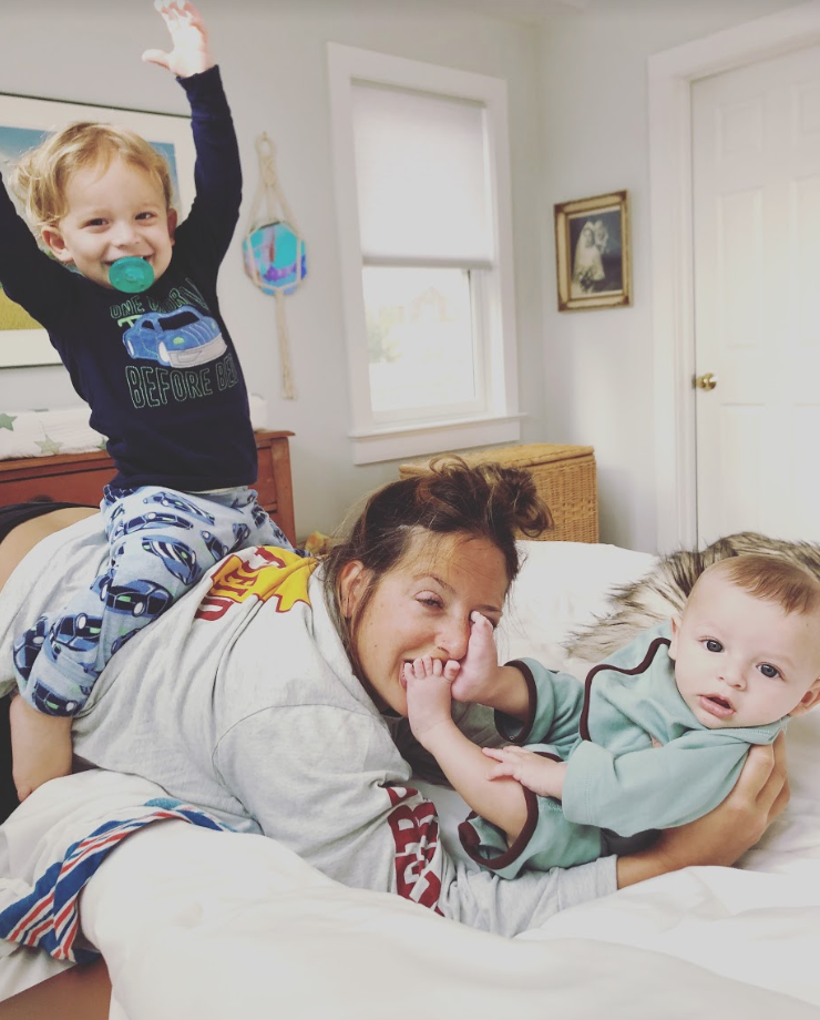The author with her kids