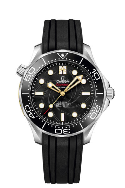 """One of the Seamaster Diver 300M watches included in the """"James Bond"""" Set by Omega"""