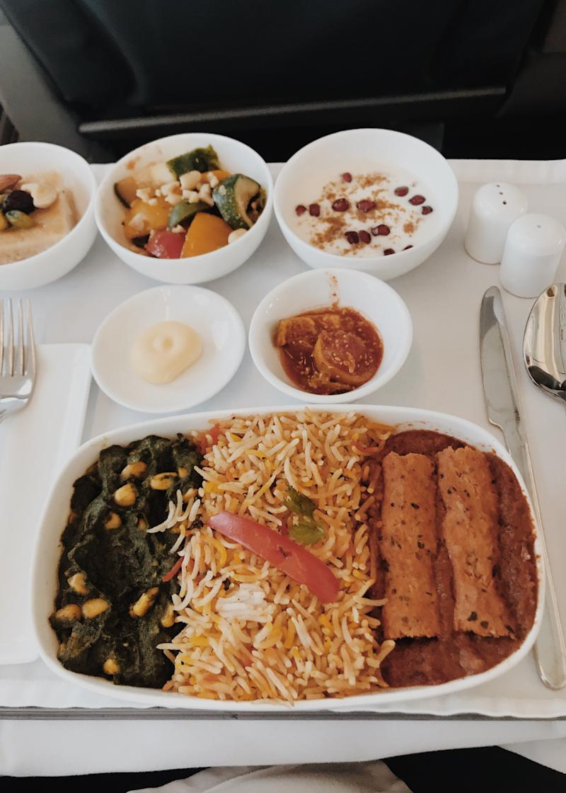 In-flight meal on board Vistara