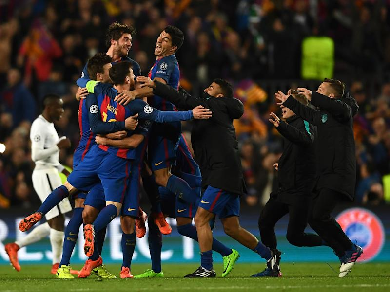 Sergi Roberto's stoppage-time goal sent Barcelona through: Getty