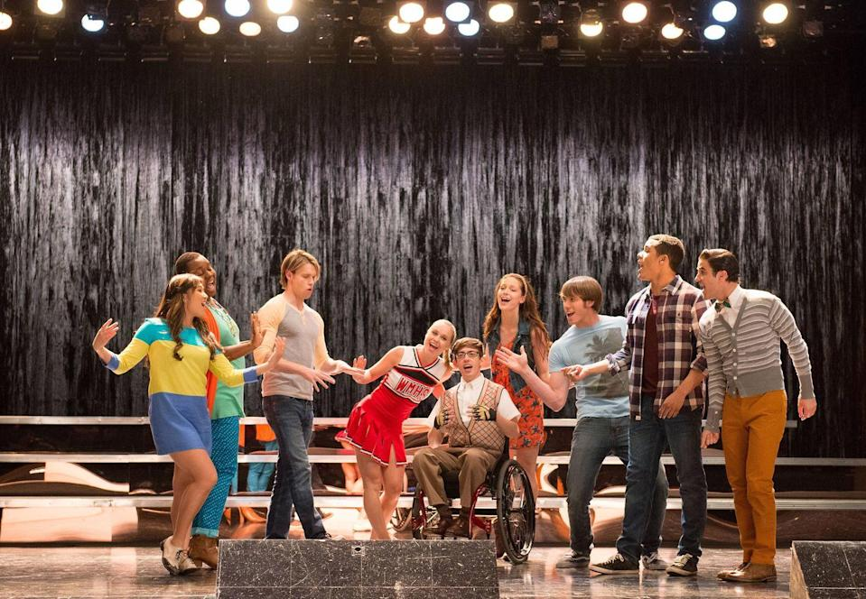"""<p>Although the cast of the TV show <em>Glee </em>performs this version, the song originally appeared in the 1966 Broadway musical <em>Mame.</em></p><p><a class=""""link rapid-noclick-resp"""" href=""""https://www.amazon.com/Need-Little-Christmas-Glee-Version/dp/B004AQTP88/?tag=syn-yahoo-20&ascsubtag=%5Bartid%7C10055.g.2680%5Bsrc%7Cyahoo-us"""" rel=""""nofollow noopener"""" target=""""_blank"""" data-ylk=""""slk:AMAZON"""">AMAZON</a> <a class=""""link rapid-noclick-resp"""" href=""""https://go.redirectingat.com?id=74968X1596630&url=https%3A%2F%2Fitunes.apple.com%2Fus%2Falbum%2Fwe-need-a-little-christmas-glee-cast-version%2F398792552&sref=https%3A%2F%2Fwww.goodhousekeeping.com%2Fholidays%2Fchristmas-ideas%2Fg2680%2Fchristmas-songs%2F"""" rel=""""nofollow noopener"""" target=""""_blank"""" data-ylk=""""slk:ITUNES"""">ITUNES</a></p>"""
