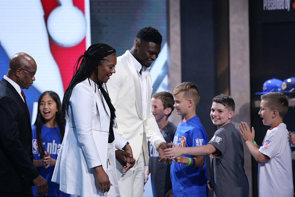 Even with the knowledge he'd be the top pick in the draft, the emotion of seeing his life's dream realized was an emotional moment for Zion Williamson. (Reuters)