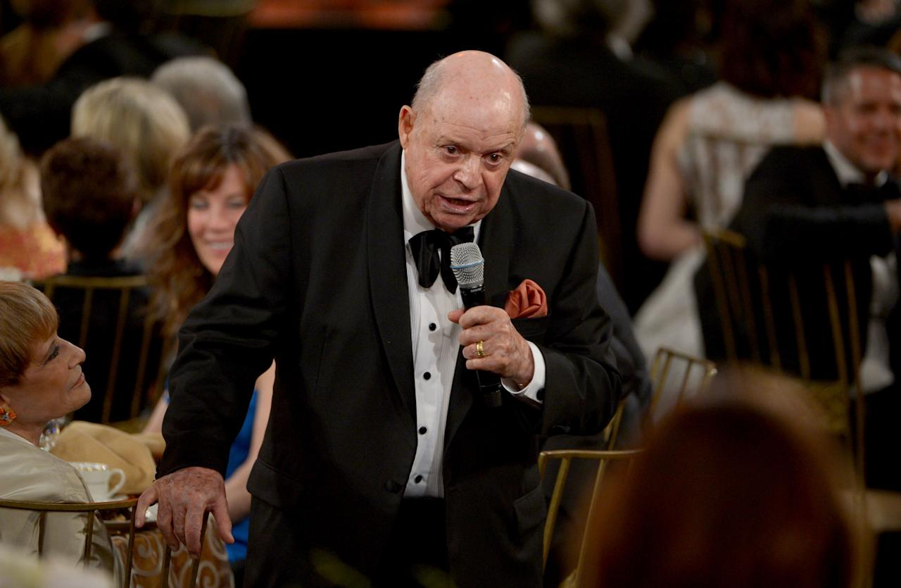 CULVER CITY, CA - JUNE 07:  Comedian Don Rickles speaks at the 40th AFI Life Achievement Award honoring Shirley MacLaine held at Sony Pictures Studios on June 7, 2012 in Culver City, California. The AFI Life Achievement Award tribute to Shirley MacLaine will premiere on TV Land on Saturday, June 24 at 9PM ET/PST.  (Photo by Kevin Winter/Getty Images for AFI)