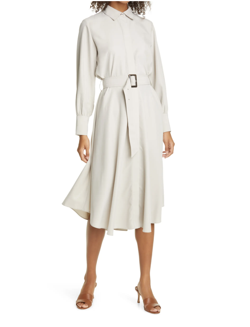 Club Monaco Curved Hem Belted Shirtdress- Nordstrom, $169 (originally $279)