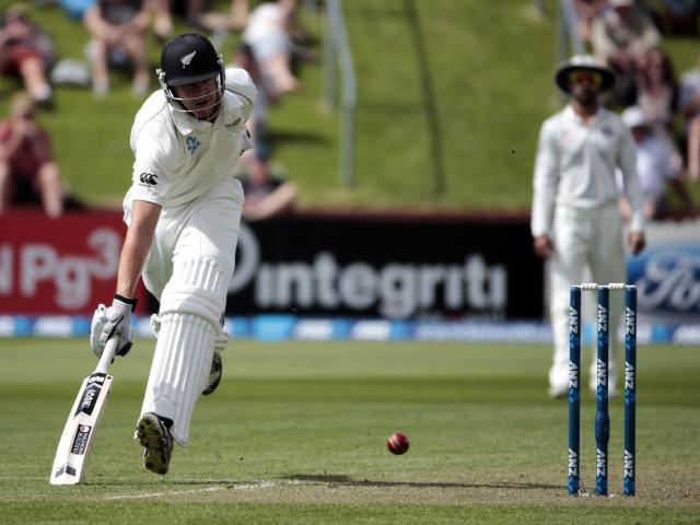 New Zealand's Peter Fulton makes his ground during day one of the second international test cricket match against India at the Basin Reserve in Wellington, February 14, 2014. REUTERS/Anthony Phelps (NEW ZEALAND - Tags: SPORT CRICKET)