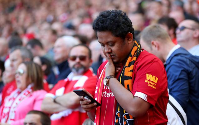 Liverpool fans nervously checked scores on the final day as they beat Wolves.