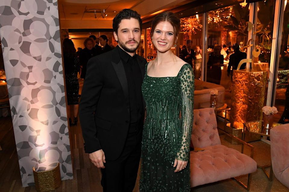 LOS ANGELES, CALIFORNIA - JANUARY 05: (L-R) Kit Harington and Rose Leslie attend HBO's Official 2020 Golden Globe Awards After Party on January 05, 2020 in Los Angeles, California. (Photo by Jeff Kravitz/FilmMagic for HBO)