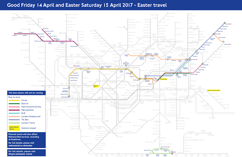Line closures: Several lines will be affected (TfL)