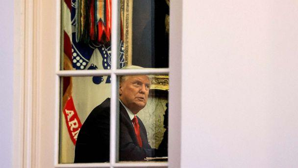 PHOTO: President Donald Trump sits in the Oval Office of the White House in Washington, Nov. 13, 2020.  (Carlos Barria/Reuters, FILE)