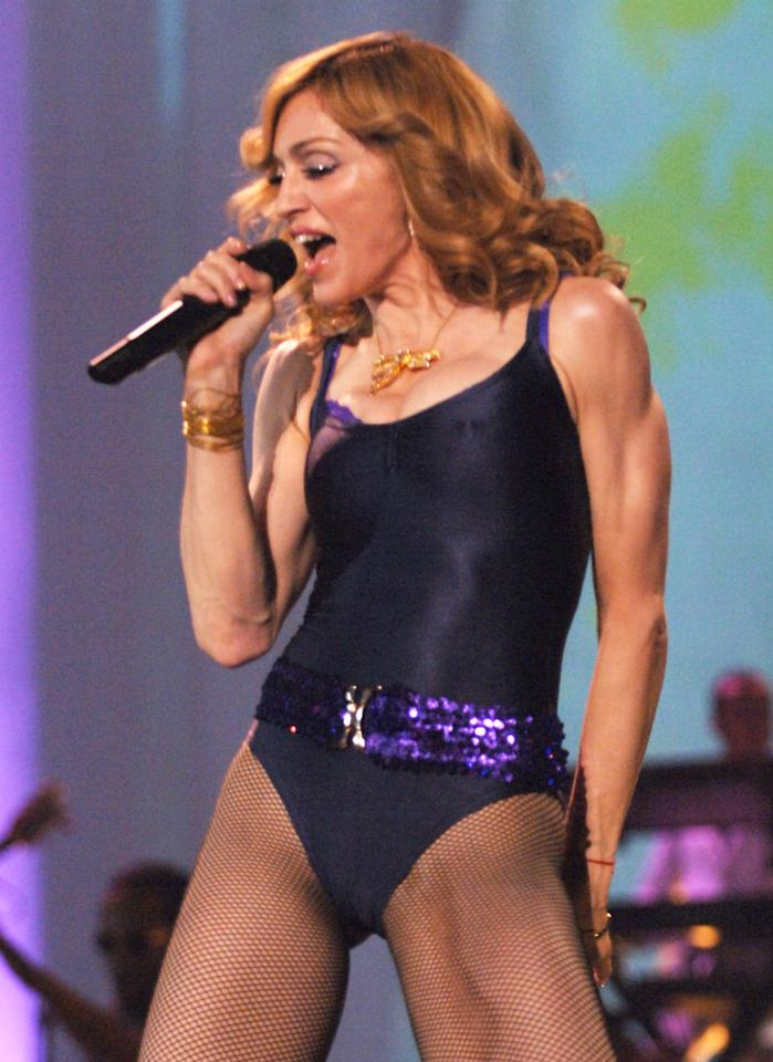 Madonna at the Atlantic Pavillion in Lisbon, Portugal. (Photo by Kevin Mazur/WireImage)