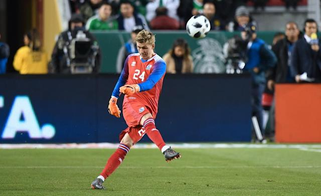 Young Iceland goalkeeper Runar Alex Runarsson has joined French top flight club Dijon and will go up against Paris Saint Germain, Marseille and Monaco next season (AFP Photo/Frederic J. Brown)