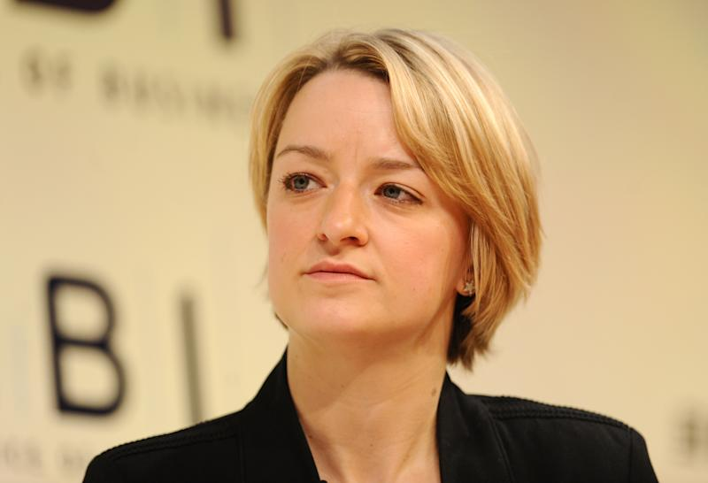 ITV Business Editor Laura Kuenssberg at the CBI conference, at the Grosvenor House hotel, in central London.