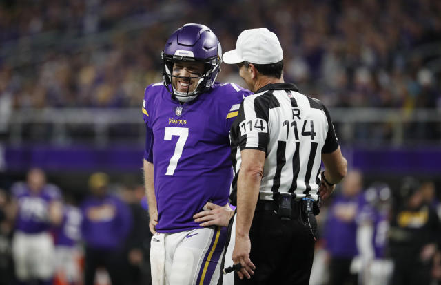 Minnesota Vikings quarterback Case Keenum (7) is a step away from taking his team to the Super Bowl. (AP)