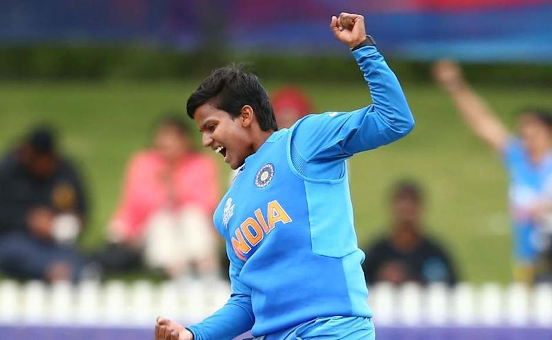 Deepti Sharma claimed her 50th T20I wicket when she saw off Suzie Bates in the sixth over of the Kiwi run-chase. ICC Media