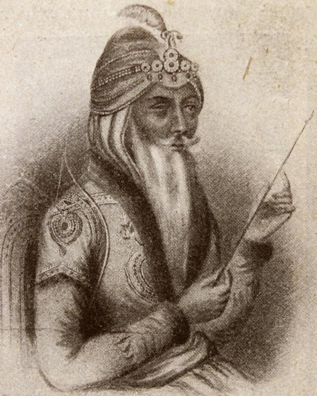 Portrait of Maharaja Ranjit Singh, founder of the Sikh Empire, which came to power in the Indian subcontinent in the early half of the 19th century. (Getty)