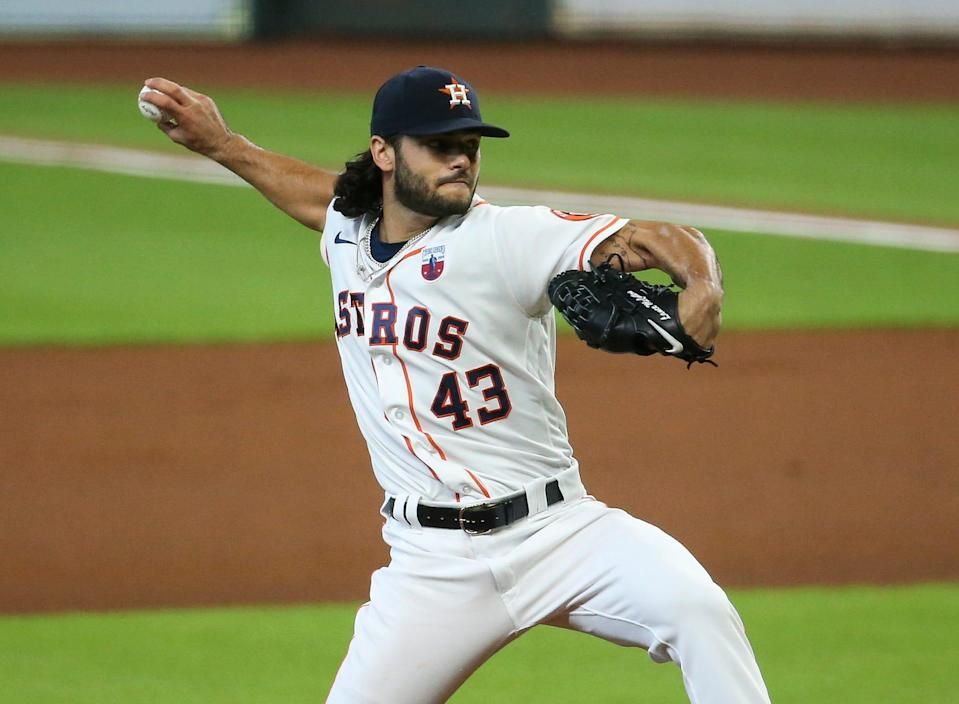 Right-hander Lance McCullers Jr. has a 32-25 record and 3.70 ERA over five MLB seasons with the Houston Astros.