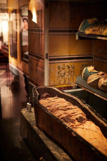PHOTO: The mummified body of the ancient Egyptian priest Nesyamun on display in Leeds, England. (Leeds Museums and Galleries)