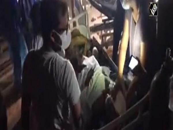 Fire broke out in Vadodara hospital on Tuesday night. [Photo/ANI]