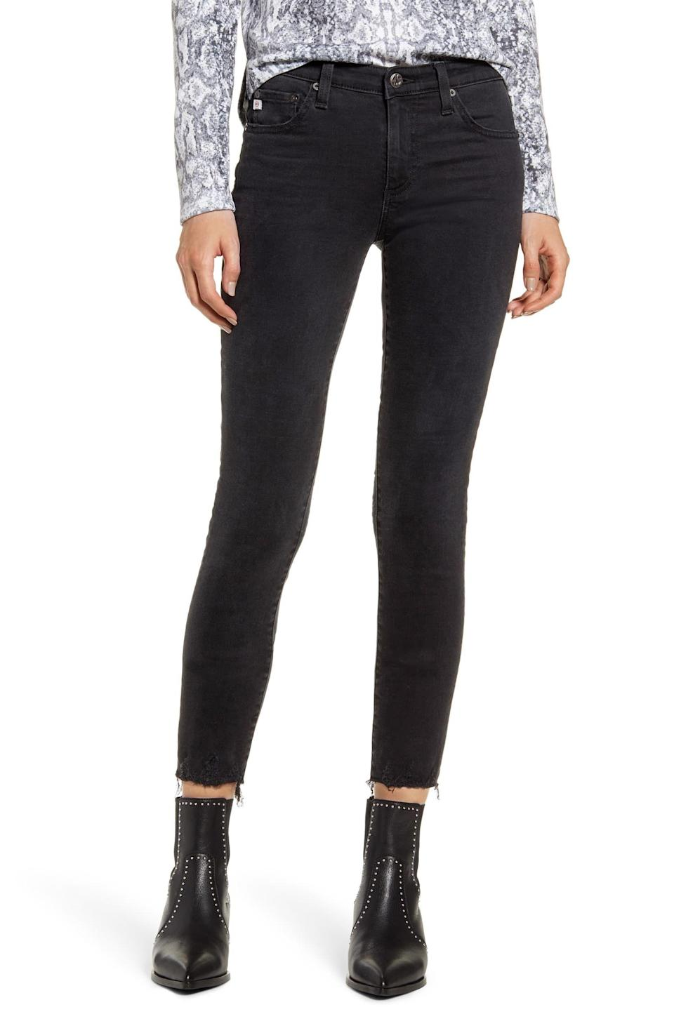 """<p><strong>AG</strong></p><p>nordstrom.com</p><p><strong>$135.00</strong></p><p><a href=""""https://go.redirectingat.com?id=74968X1596630&url=https%3A%2F%2Fshop.nordstrom.com%2Fs%2Fag-the-legging-ankle-super-skinny-jeans-2-years-black-essence%2F5272794&sref=http%3A%2F%2Fwww.cosmopolitan.com%2Fstyle-beauty%2Ffashion%2Fg30057282%2Fshop-nordstrom-black-friday-cyber-monday-sale-2019%2F"""" rel=""""nofollow noopener"""" target=""""_blank"""" data-ylk=""""slk:Shop Now"""" class=""""link rapid-noclick-resp"""">Shop Now</a></p><p>Speaking of very skinny jeans, this edgy AG pair feel like leggings, but look like jeans. *Adds to cart ASAP.* </p>"""