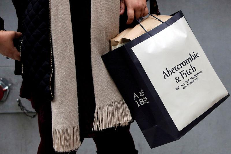 FILE PHOTO: A person carries a bag from the Abercrombie & Fitch store on Fifth Avenue in Manhattan, New York City