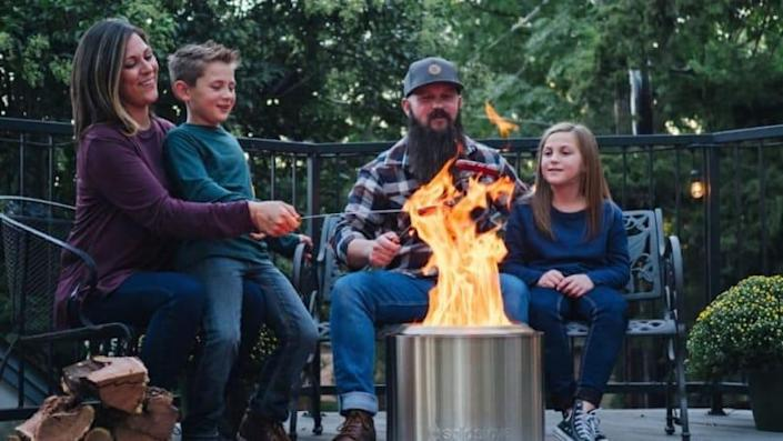 Cook, warm up, and tell spooky stories all with the assistance of this portable stove.