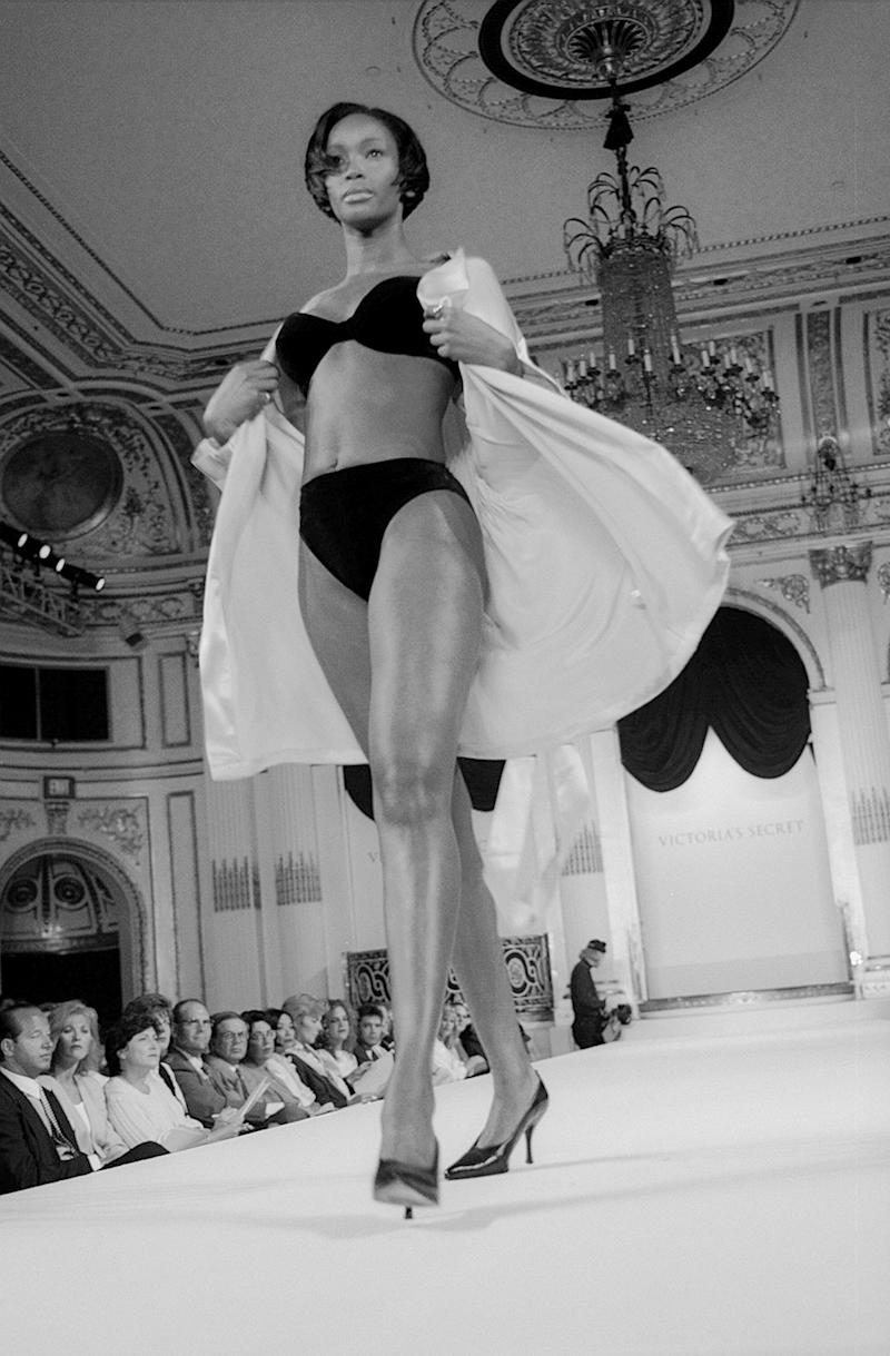 Beverly Peele at the first Victoria's Secret Fashion Show, inside the Plaza Hotel in New York, 1995.