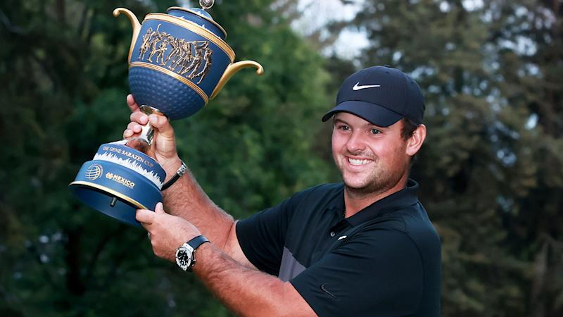 Seen here, Patrick Reed with the Mexico Championship trophy.