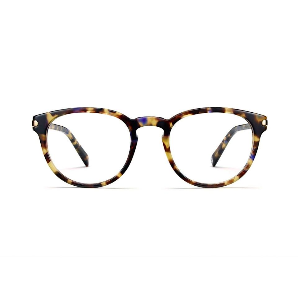 """The high school grad who's headed to college in the fall will get plenty of use out of these blue-light glasses that can help quell the effects of screen-time overload. $195, Warby Parker. <a href=""""https://www.warbyparker.com/eyeglasses/women/percey/violet-magnolia-with-shiny-gold-endcaps"""" rel=""""nofollow noopener"""" target=""""_blank"""" data-ylk=""""slk:Get it now!"""" class=""""link rapid-noclick-resp"""">Get it now!</a>"""