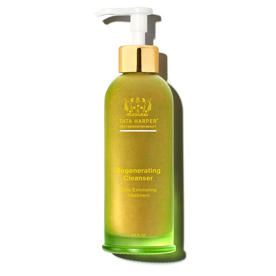 """<br><br><strong>Tata Harper</strong> Regenerating Cleanser, $, available at <a href=""""https://go.skimresources.com/?id=30283X879131&url=https%3A%2F%2Fcredobeauty.com%2Fcollections%2Fbestsellers%2Fproducts%2Ftata-harper-regenerating-cleanser%23locklink"""" rel=""""nofollow noopener"""" target=""""_blank"""" data-ylk=""""slk:Credo Beauty"""" class=""""link rapid-noclick-resp"""">Credo Beauty</a>"""