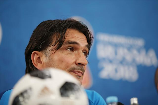 Soccer Football - World Cup - Croatia News Conference - Rostov Arena, Rostov-on-Don, Russia - June 25, 2018 Croatia coach Zlatko Dalic during news conference REUTERS/Marko Djurica