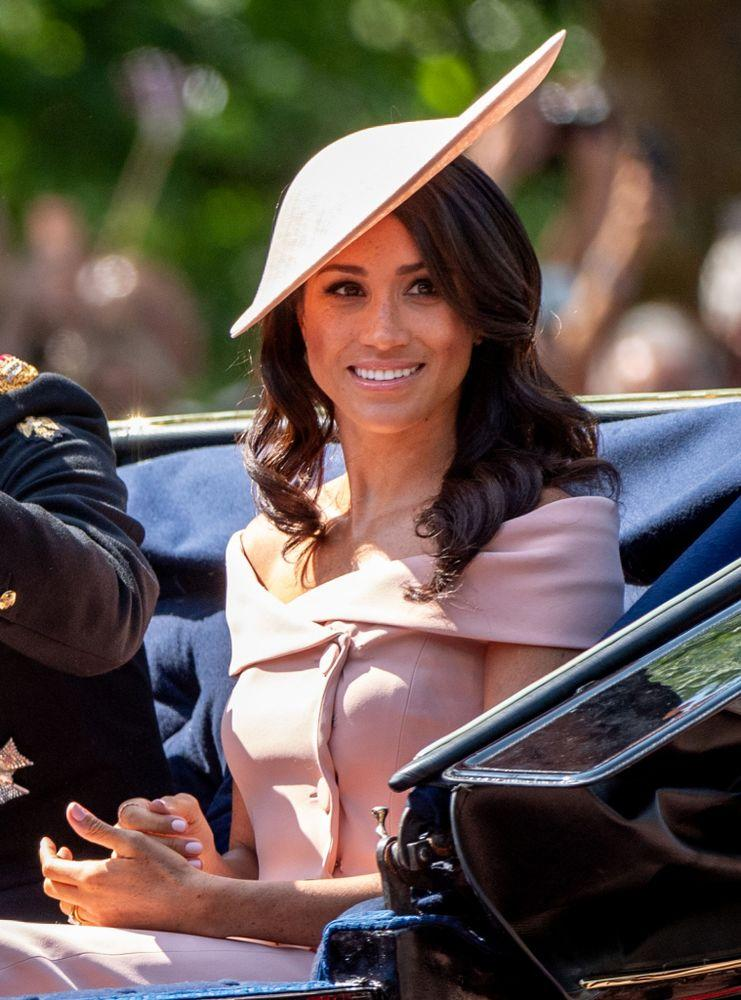 Meghan arrives at the 2018 Trooping the Colour.