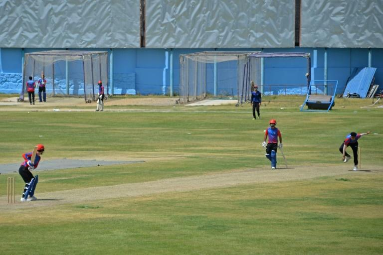 The Kabul International Cricket Ground is just a few kilometres from the Afghan capital's airport, where tens of thousands are desperately trying to flee on evacuation flights