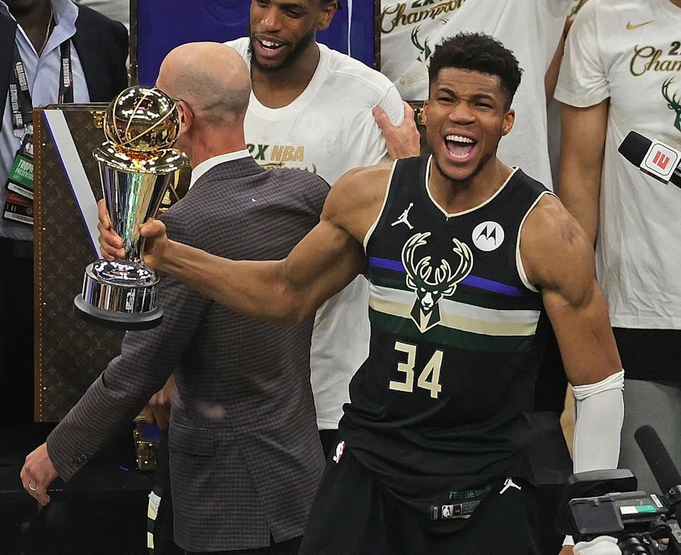 Can Giannis Antetokounmpo and the Bucks repeat? (Photo by Jonathan Daniel/Getty Images)