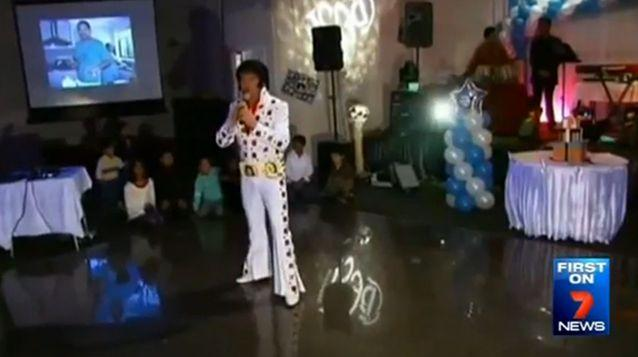 Neni's birthday party in 2006 featured an Elvis impersonator. Photo: 7News